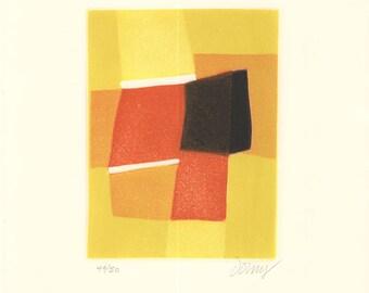 Bertrand Dorny-Untitled V-1974 Etching-SIGNED