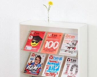 Magazine rack brochure holder for Billy shelf acrylic