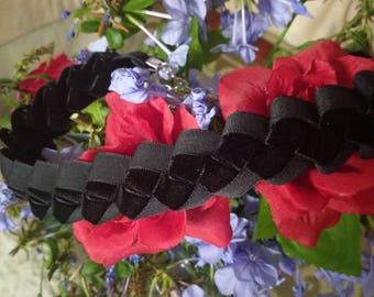 Black Velvet Braided Ribbon Choker