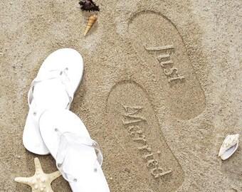 Custom Wedding Flip Flops Bridal Flip Flops Wedding Flip Flops for the Bride Beach Wedding Flipflops