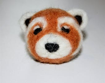 animal kingdom felted wool heads total of 6