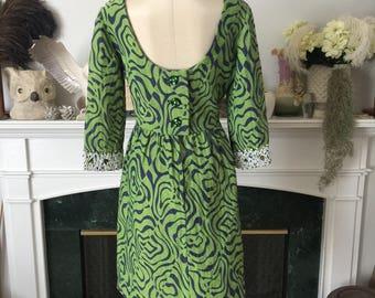 60s Psychedelic Fun Mini Dress