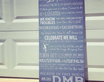 Dave Matthews Band song Lyrics on canvas, DMB, Fire Dancer, For the music lover, Choose your Colors, Ready to hang gallery wrapped canvas