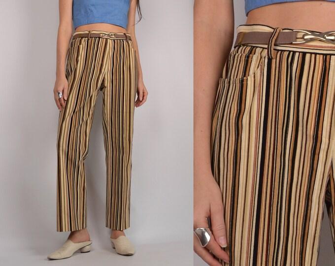 Striped Corduroy Pants / sz 6 to 8