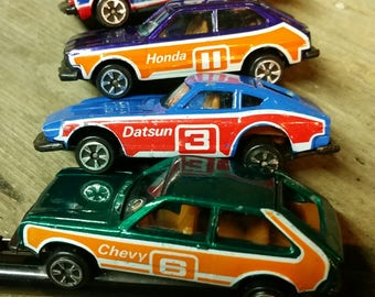 HATCHBACKS complete set of 4 by Kidco Tough Wheels 1978