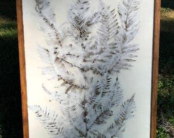 "Original Encaustic Painting -  ""LUMINOUS IN WHITE no. 3"""