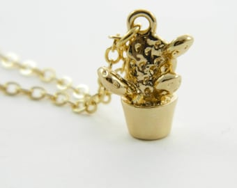 Potted Cactus Necklace - NC0010