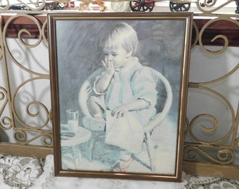 Vintage J. Ingwersen Print, Vintage Girl Print, Child Print, Girls Room Decor, Vintage home Decor,