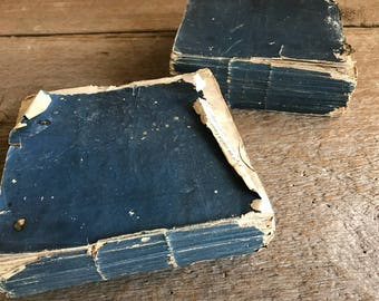 1819 Old French Italian Dictionary Book, Rag Pulp Paper, Time Worn Antique, Italiano Francese Dizionario Portatile, 2 Available
