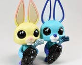"You Pick- Custom Hand Painted 3.75"" Starry Eyed Nibble & Root Coarse Vinyl Figures by Kendra Thomas"