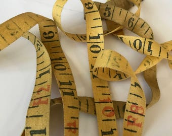 Cloth Tape / 3 Foot Piece of Vintage Yellow Cloth Tape Great for Journals, smash books, collage, mixed media, etc.
