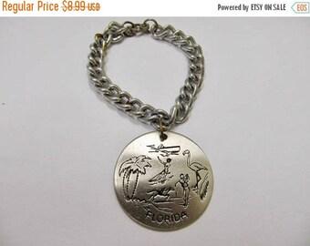 On Sale Vintage Aluminum Florida Souvenir Bracelet Item K # 1124