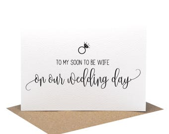 To My Soon to be Wife On Our Wedding Day | Wedding Card | Script Writing | WED065 | Card for Wife on Wedding Day | To My Wife Card | Cards