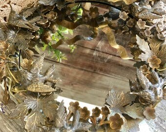 Petite Choses Sparrow Bird and Floral Mirror