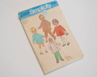 vintage childs coat pattern, Simplicity 9042