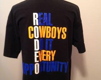 Vintage Rodeo Pro Cowboy 90s Tshirt