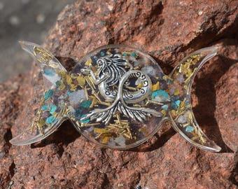 Mermaid Triple Moon Orgone Crystal Healing Ocean Energy
