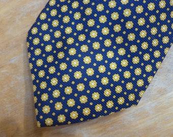Brooks Brothers Makers yellow flower silk necktie USA