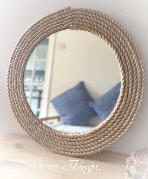 nautical rope mirror round rope mirror 22 mirror. Black Bedroom Furniture Sets. Home Design Ideas