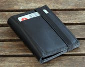 Black Leather Wallet, Portemonnaie, Leather Wallets For Men
