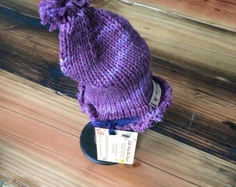 Handknit Newborn Baby Ruffles Cloche Hat