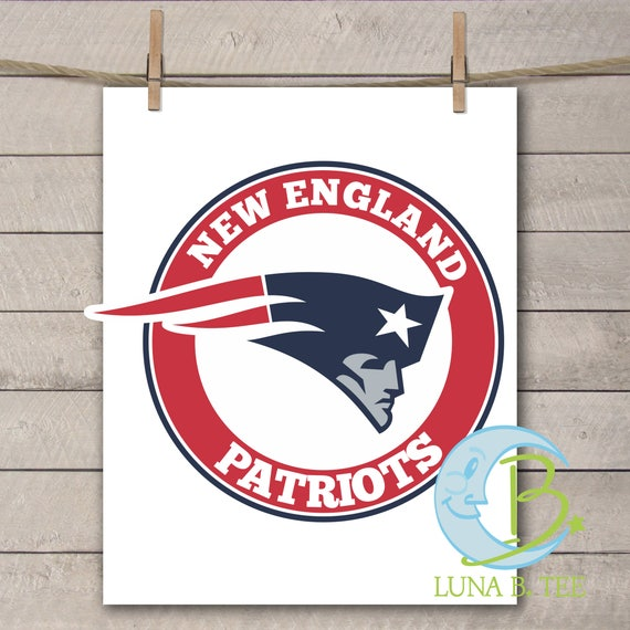 INSTANT DOWNLOAD New England Patriots Super Bowl Printable DIY Iron On to Tee T-Shirt Transfer Do It Yourself - Digital File