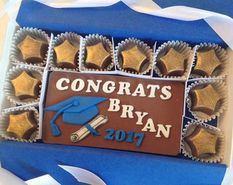 Personalized Gift for Grad - Gift for Graduation - Congrats Grad Chocolates 2017