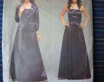 2000s Vogue Paris Original sewing pattern Guy Laroche 2497 Evening jacket top and skirt size 6-8-10 UNCUT