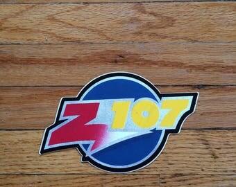 Vintage Z 107 New Hampshire Radio Station Sticker