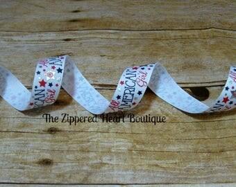 All American Girl 7/8 Inch Grosgrain Ribbon