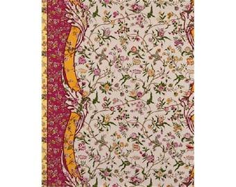BRUNSCHWIG & FILS MENARS Border Fabric 10 Yards Fuschia Green Yellow Multi