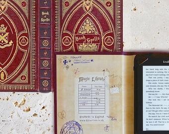20% OFF SALE Harry Potter Gryffindor House Themed Kindle Case - Book of Spells