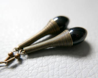 Earrings Black drop