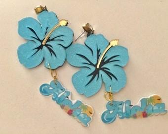Aloha Acrylic Earrings