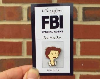 """Fox Mulder X-Files 1"""" Hard Enamel Pin"""