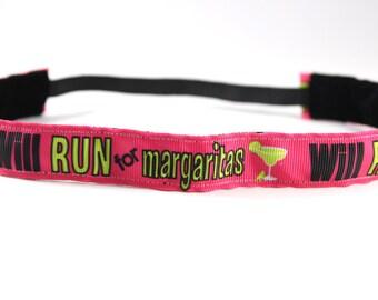 Will Run for Margaritas Headband, Gift for Runners, NoSlip Headband, Workout Accessory, Sports Headband, Running Headband, Margaritaville