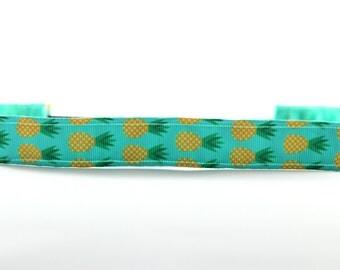 Pineapple NonSlip Headband, Activewear, Fitness Apparel, Tropical Accessory, Be a Pineapple, Running Headband, Pineapple Print