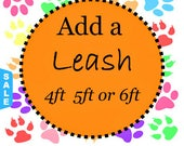 Sale - 40% Off 4FT, 5FT or 6 FT Dog Leash - Leash to go with Your Collar - Available in all Dog Collar Listings - Fa