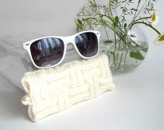 White Glasses Case. Eyeglasses Case. Eyeglasses Holder. Sunglasses Case. Reading Glasses Case. Spectacles Case.