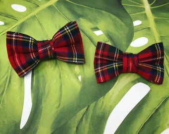 New for 2017 // Royal Stewart Tartan Bow Ties For Boys // Clip-On Bow Ties // Handmade Bow Ties