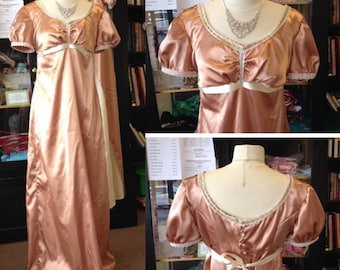 Custom Made-to-Order Regency Era Dress Pride and Prejudice Ball Gown Jane Austen Period Costume | Multiple Color Options