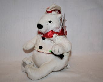 Vintage Coca Cola Polar Bear in Serving Jacket and Hat Style 0274