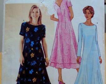 Butterick 3443 David Warren dress sewing pattern 8 10 12  or 14 16 18 UNCUT