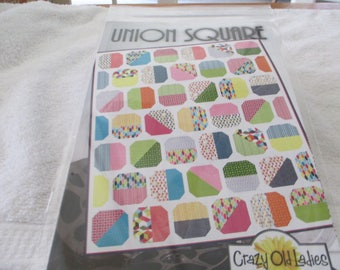 """Paper Pattern for a quilt called Union Square by Crazy Old Ladies 62"""" x 72"""""""