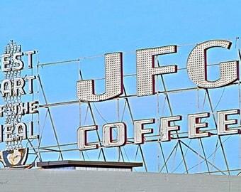 JFG Coffee Historic Sign Landmark Americana Travel Knoxville Tennessee TN  Historic Art Photo Print