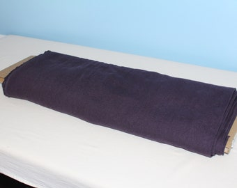 Purple linen fabric, custom-dyed by the yard!
