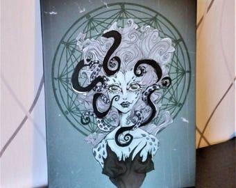 OCTOPUSSY illustration canvas print