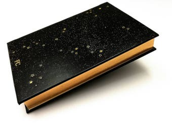 Galactic 2018 Leather planner -, Gold Decorations - Daily Planner - personalized, customized