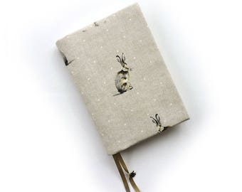A5 Hobonichi Cover hare print. Leuchtturm 1917 cover. A5 Planner cover. Book jacket.