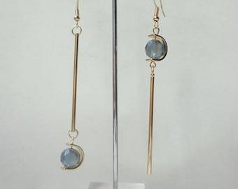 Regalite  Asymmetric Earrings Restoring Ancient Ways, Stackable Earrings, Charm Earrings 0474